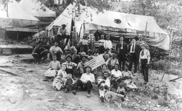 Striking miners and their families in Lick Creek district, W.Va., seven months after the Blair Mountain battle. LOC, LZ-USZ62-42068.